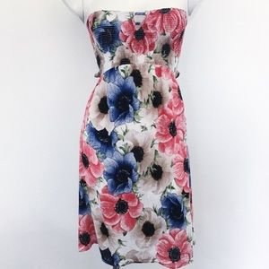 HERS & MINE   FLORAL   STRAPLESS   DRESS. E27